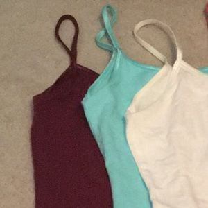 3 barely worn camis.